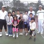 マナーキッズテニス更科教室テニス体験